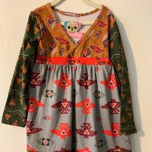 NWT Jelly the Pug dress, size 7, boho print